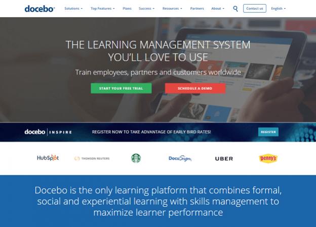Сайт Docebo