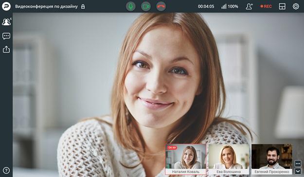Интерфейс вебинарной площадки Proficonf