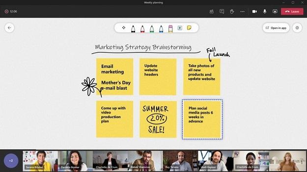 Интерактивная доска для рисования Microsoft Teams