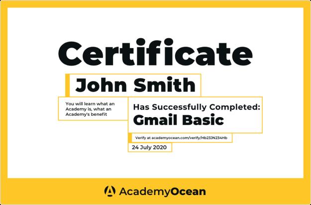 Сертификаты в AcademyOcean