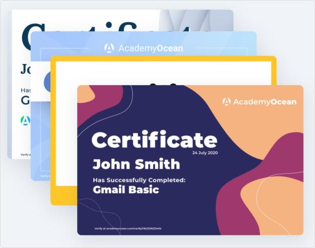 Стандартные сертификаты в AcademyOcean